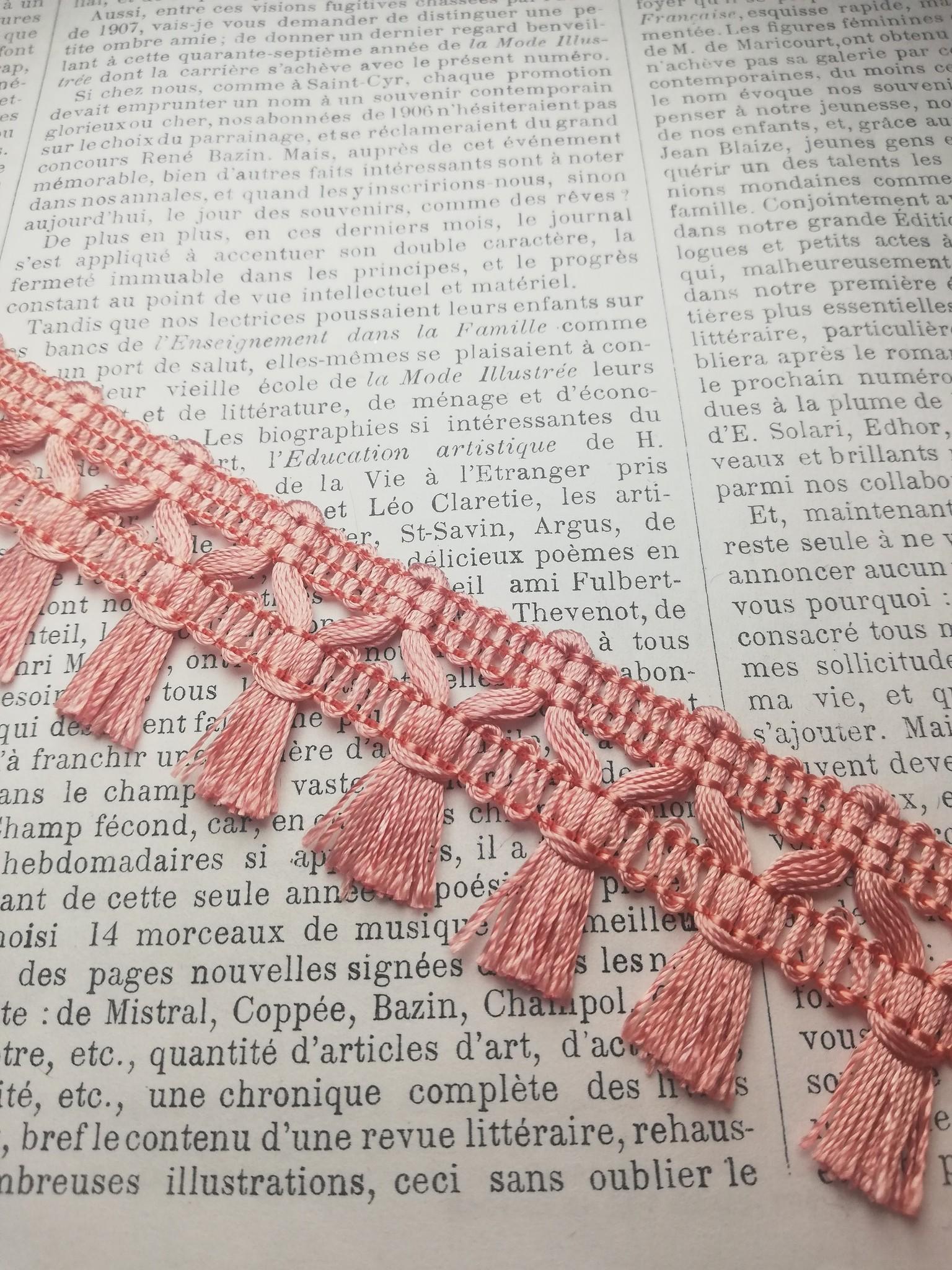 Pink Tassle Trim