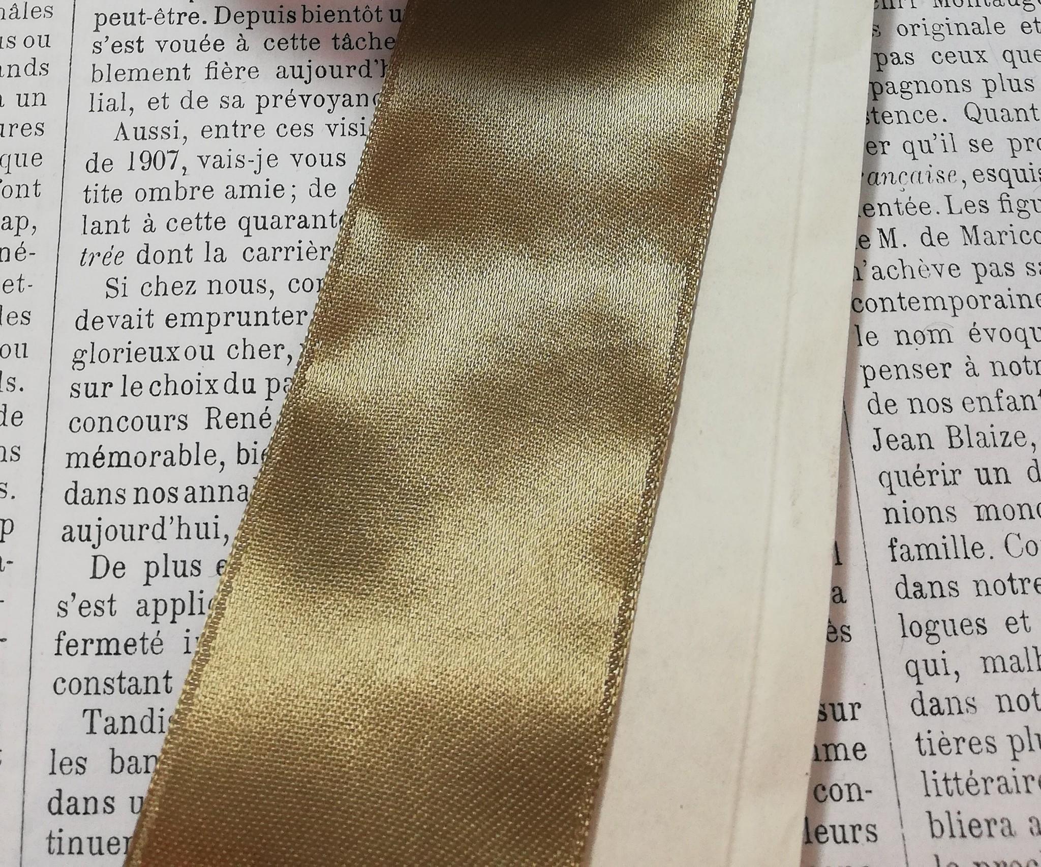 Vintage Gold colored Satin Ribbon