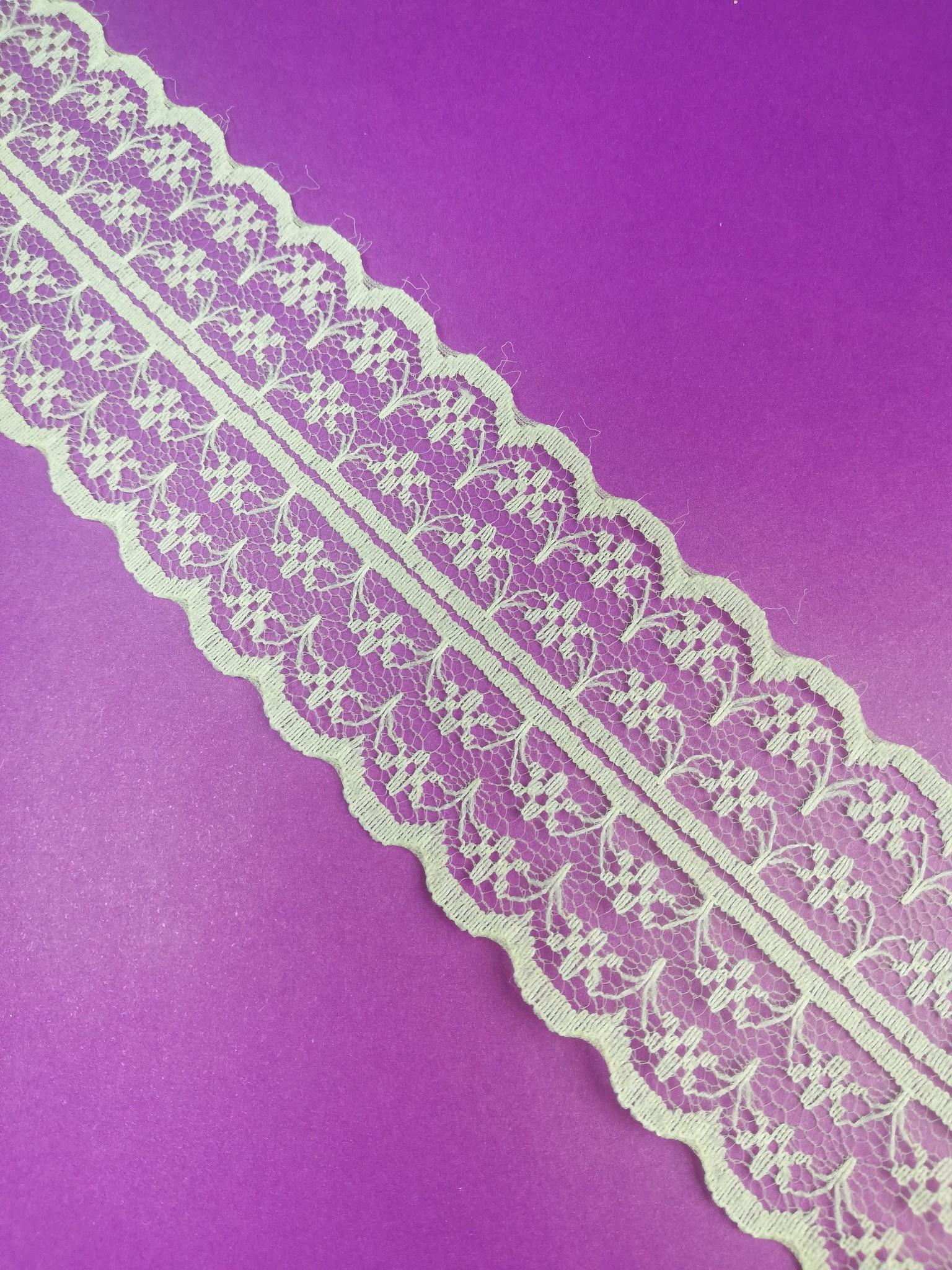 Cream Double Scalloped Lace