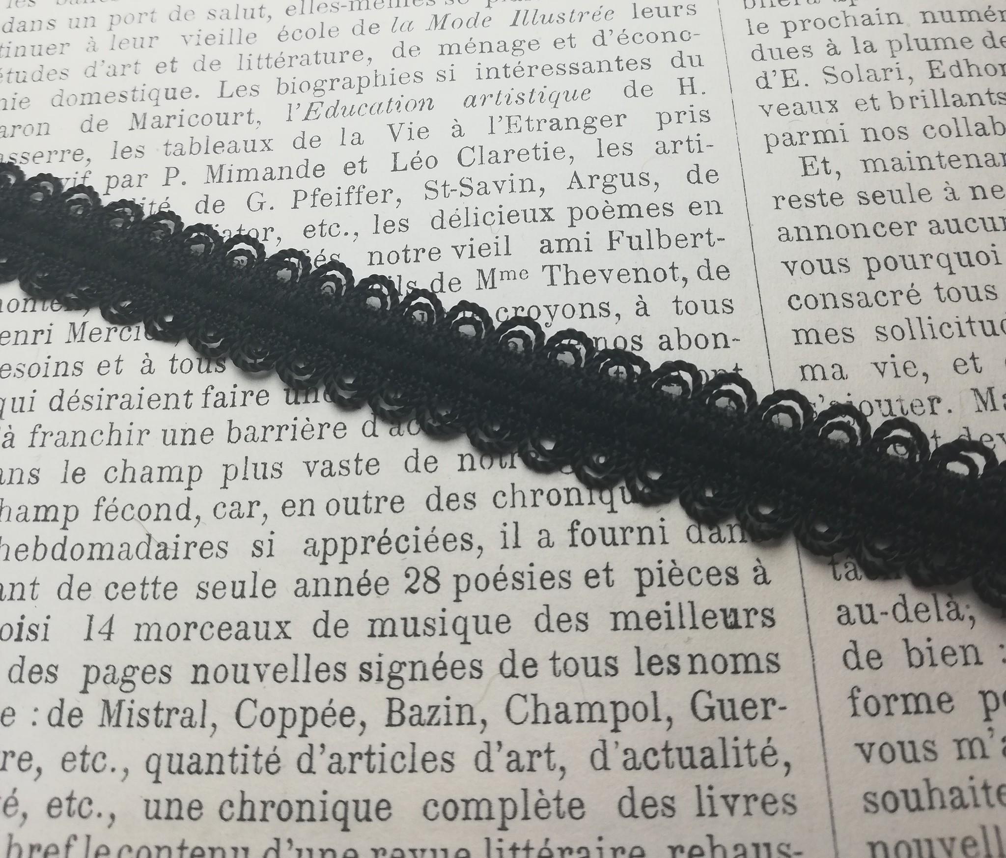 Zwart Elastiek met Kant