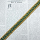Vintage Groen/Geel Galon 15mm