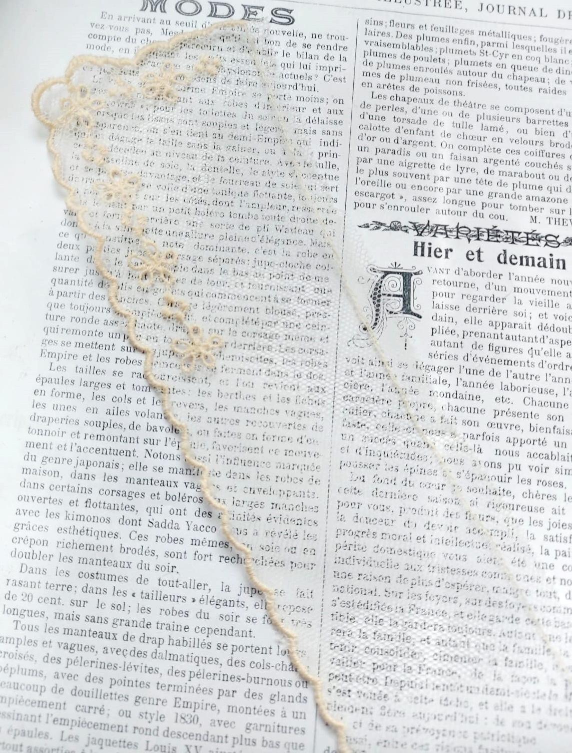 Antiek Edwardiaanse Kanten Kraag