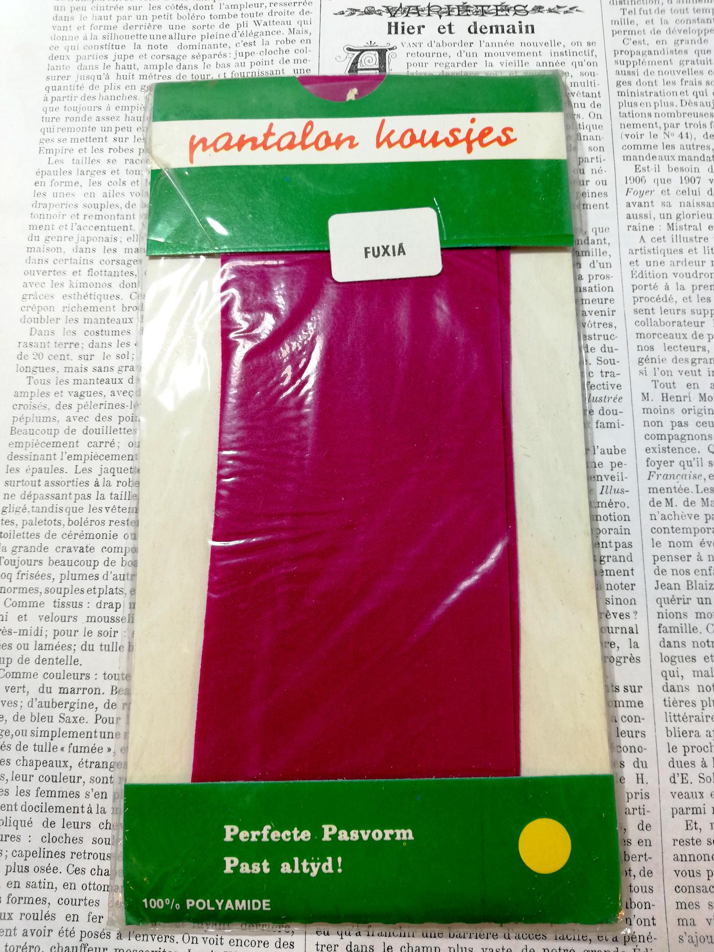 Vintage Pantalon/Knie Kousjes Fuchsia