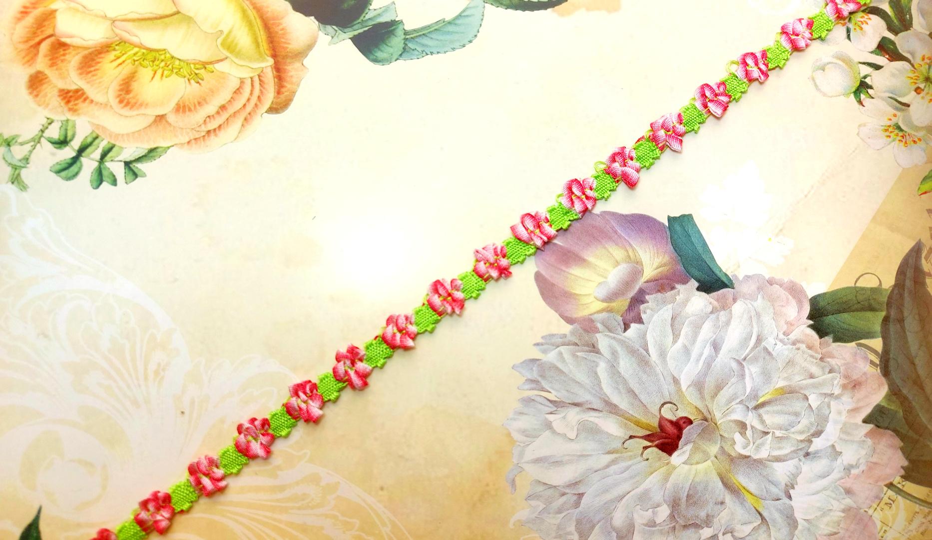 18th century Floral trim  diff. colors
