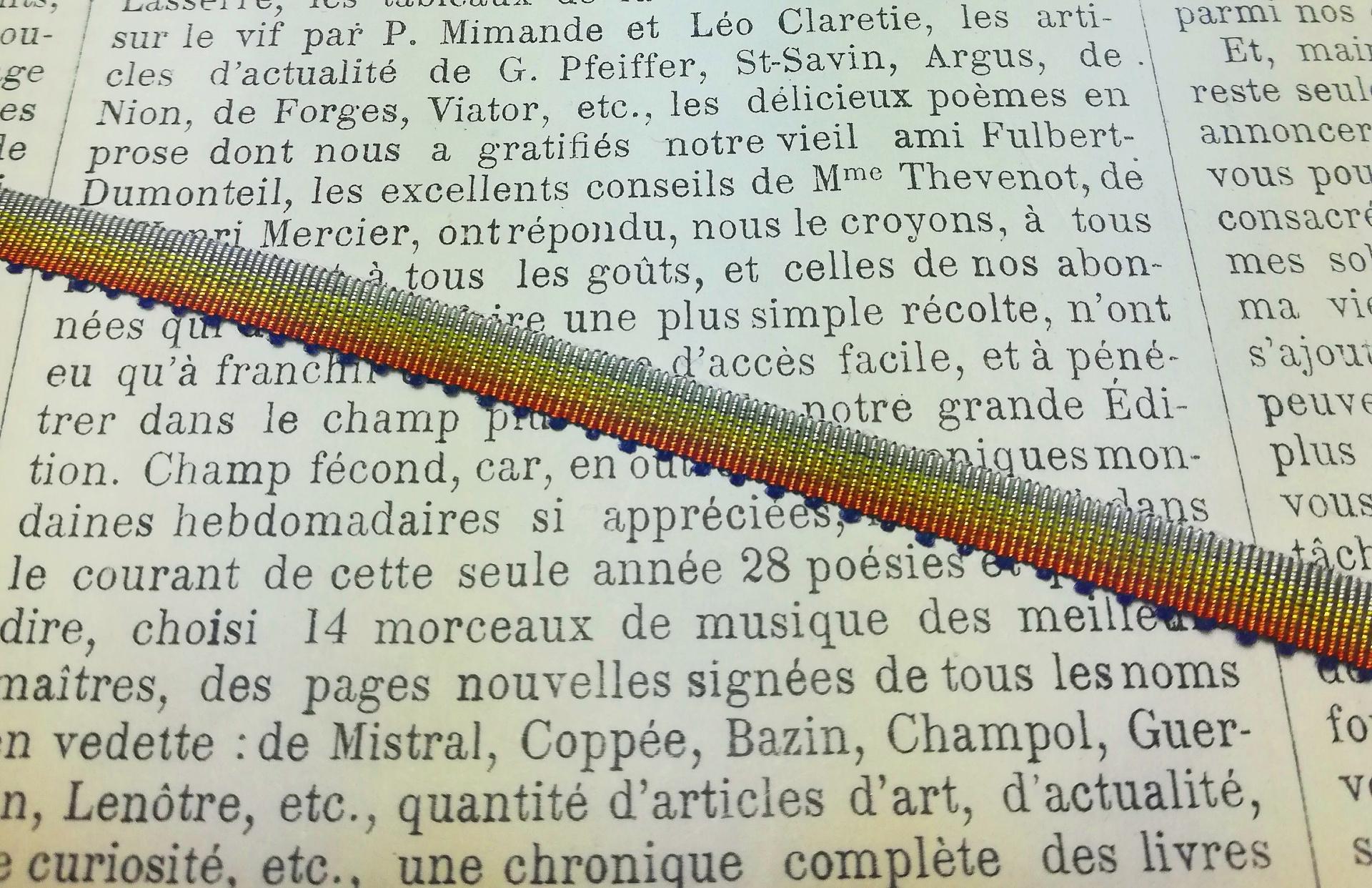18e eeuwse Ombre lint versch. kleuren