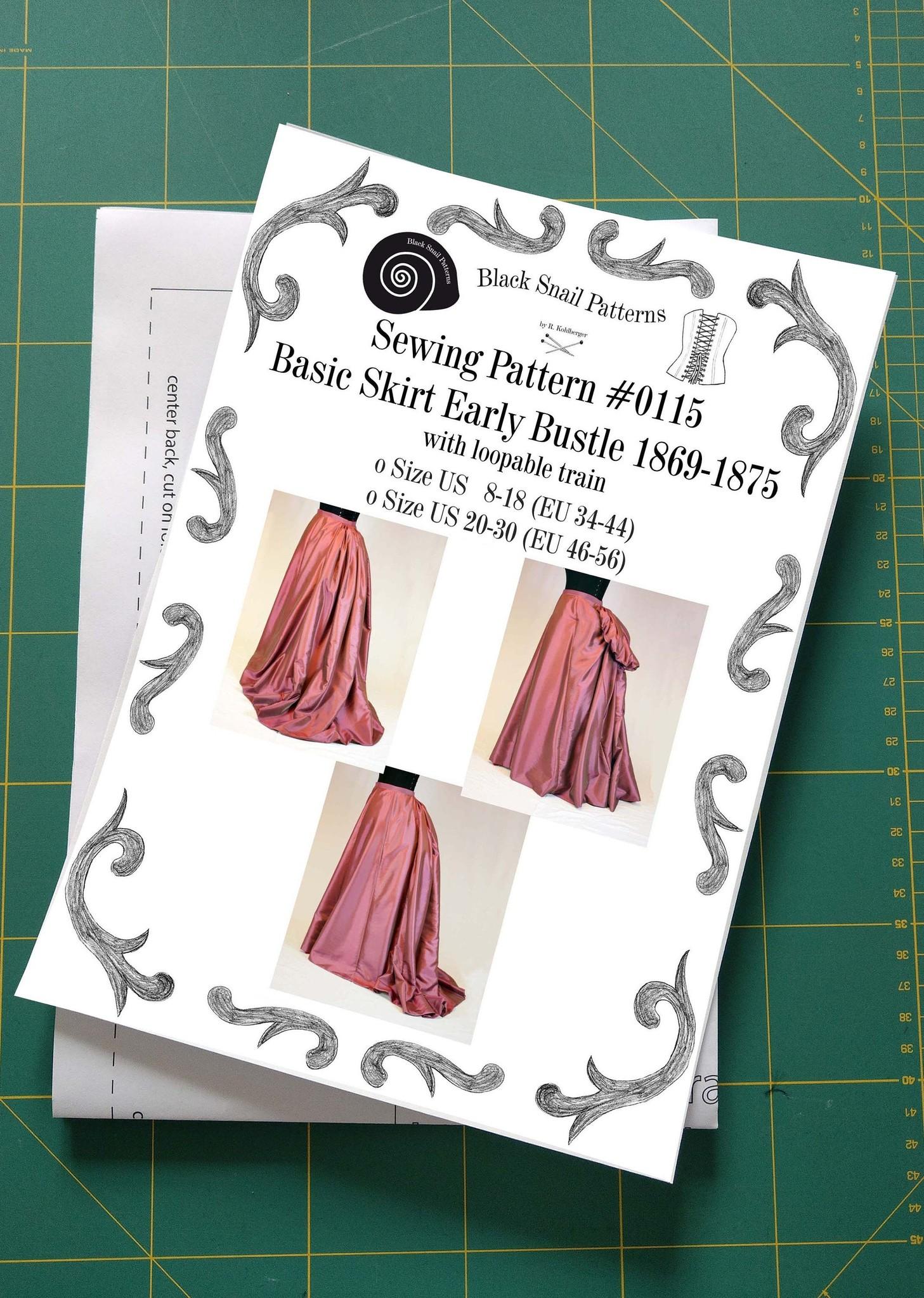 Black Snail Patterns Black Snail Patterns Victorian Basic skirt 1869-1875