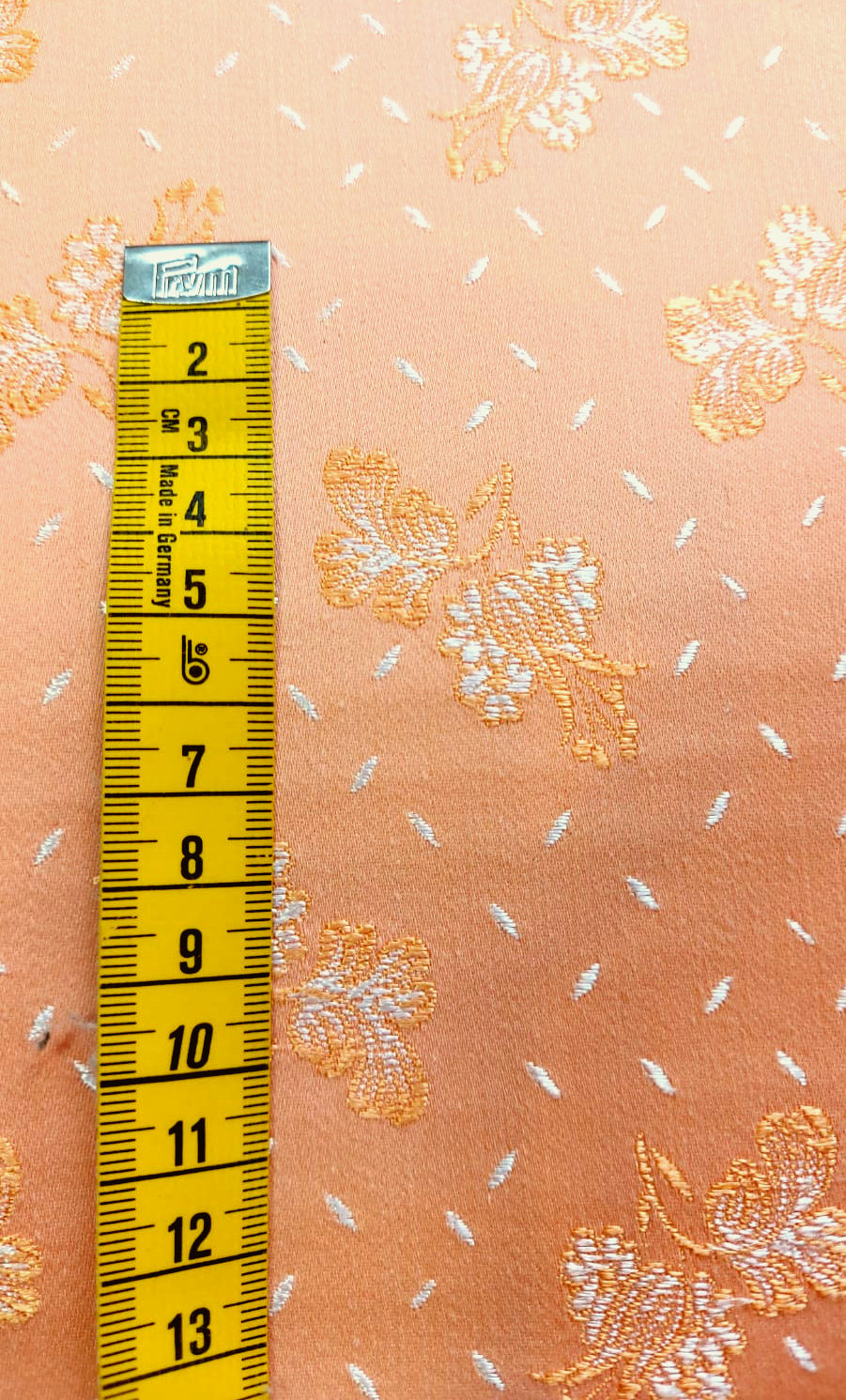 Coutil Brocade Salmon Pink Floral