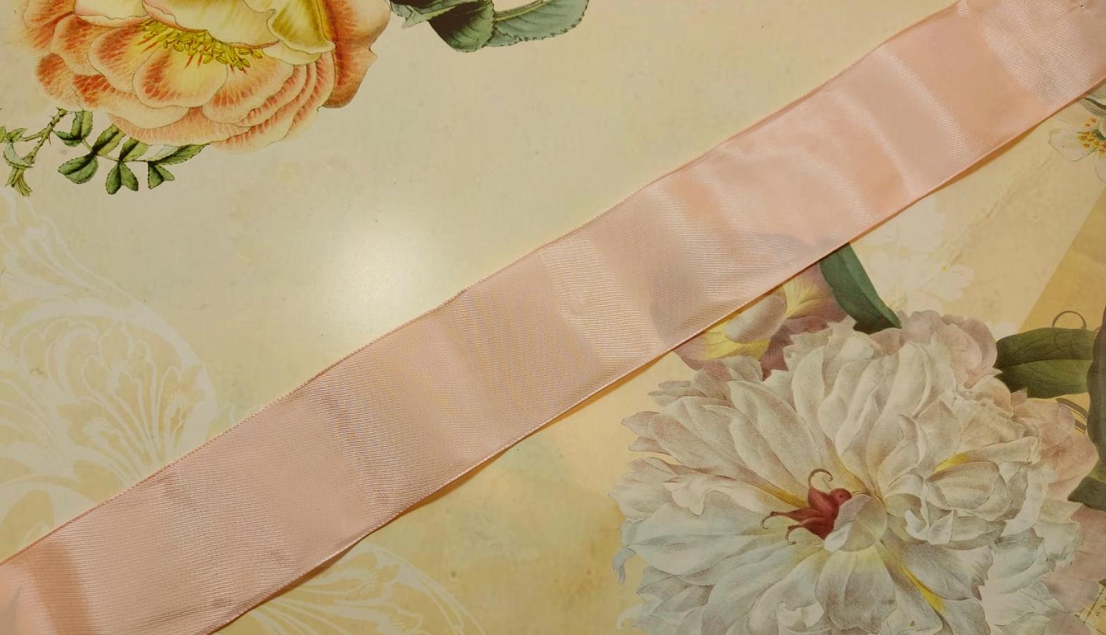 Antique Taffeta Ribbon Pink diff. widths