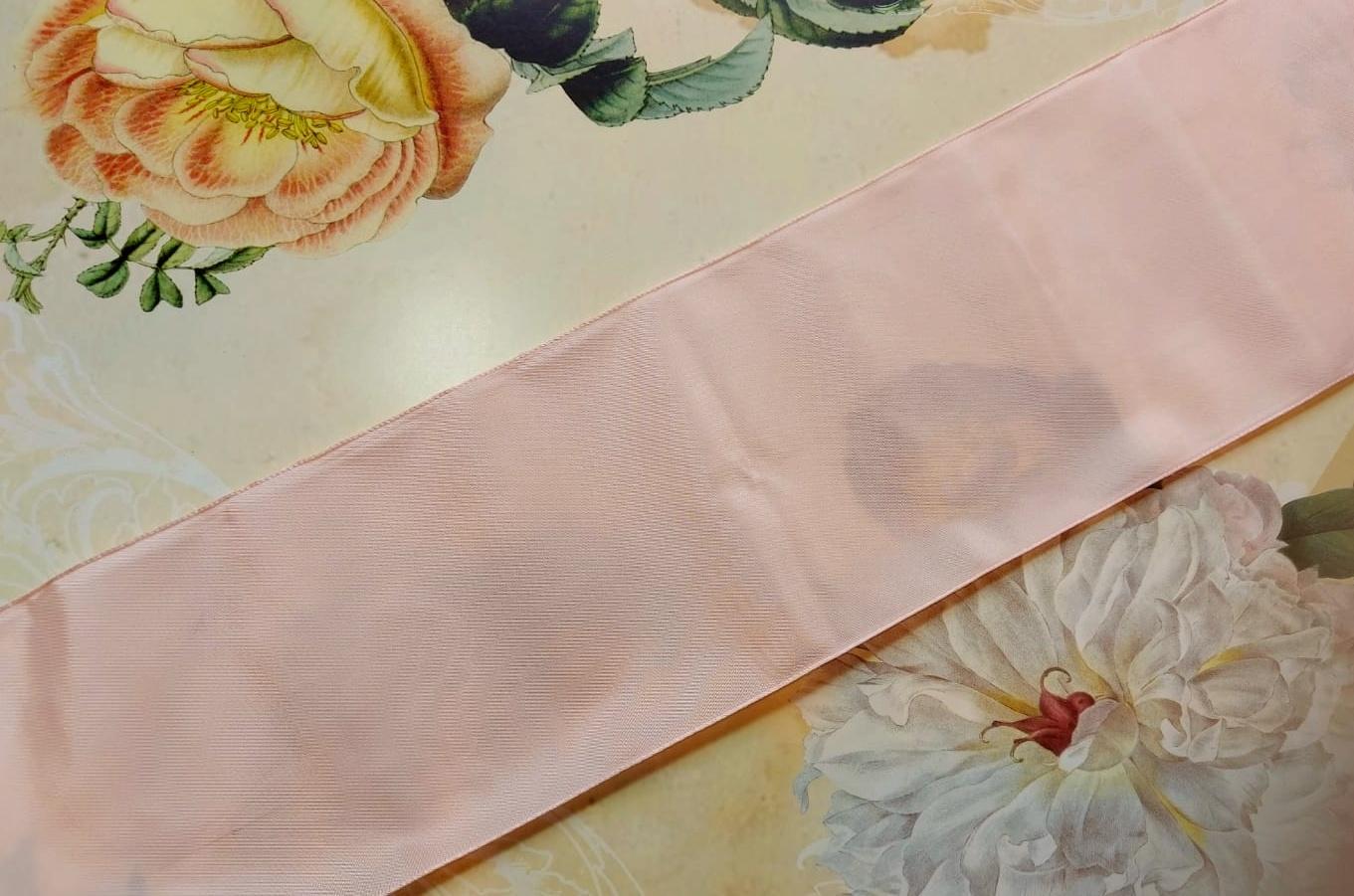 Antiek Taft Lint Roze versch. breedtes