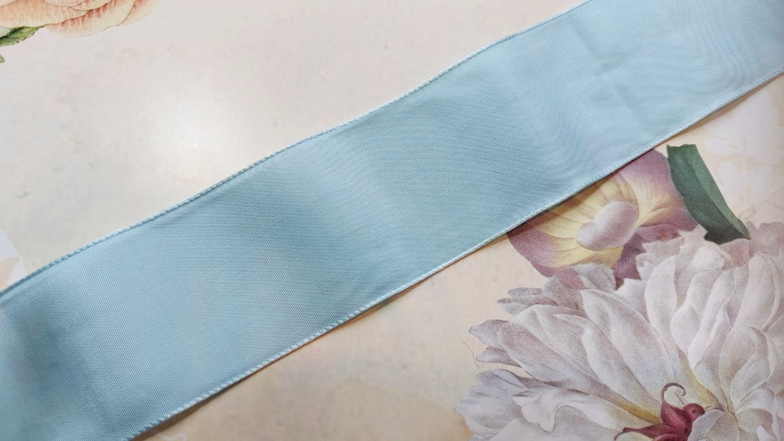 Antiek Taft Lint Blauw versch. breedtes