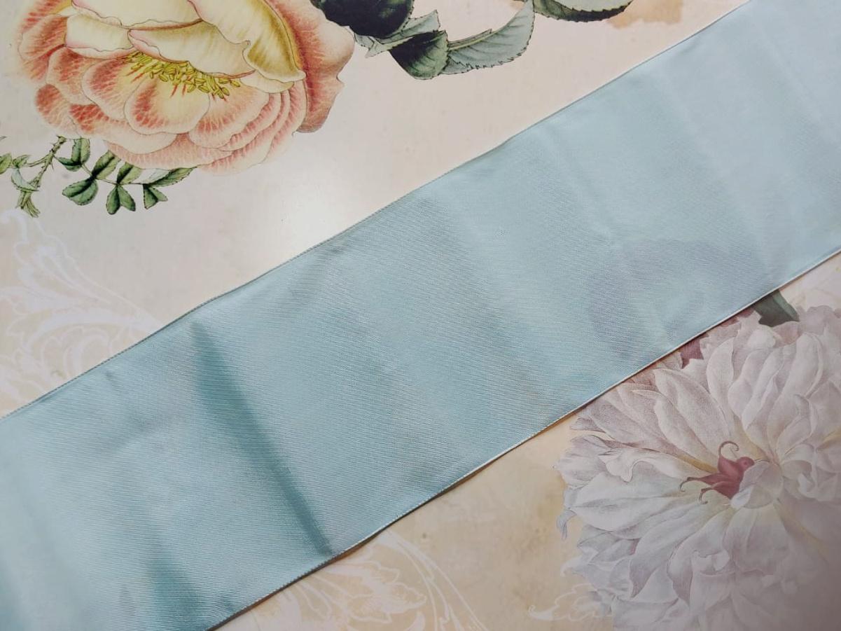 Vintage Taffeta Ribbon in Pink & Blue 57mm