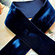 Antiek Fluweelband Donker Blauw versch. breedtes