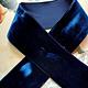 Antique Velvet trim Dark Blue diff. widths