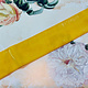Antiek Fluweelband Geel