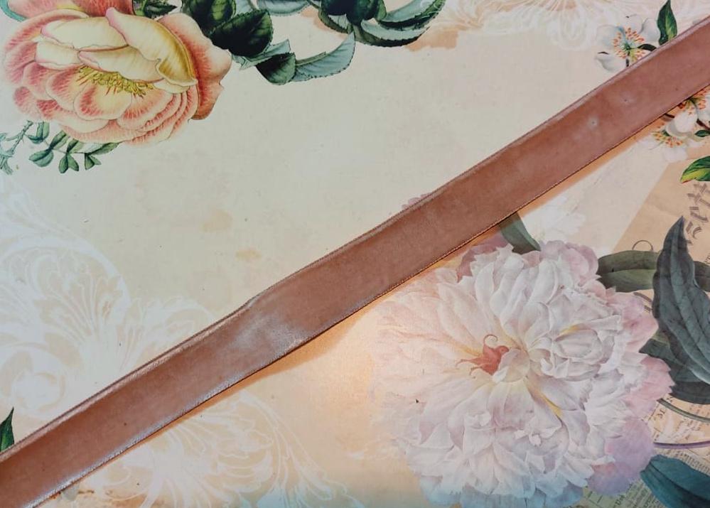 Antique Velvet trim Beige