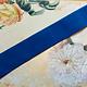 Antiek Fluweelband Blauw 1 stuk