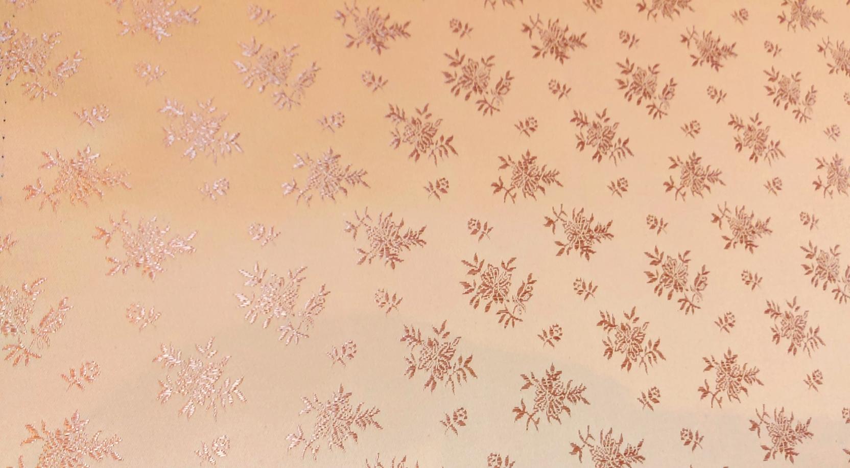 Coutil Brocade  Roze/Beige Bloemen
