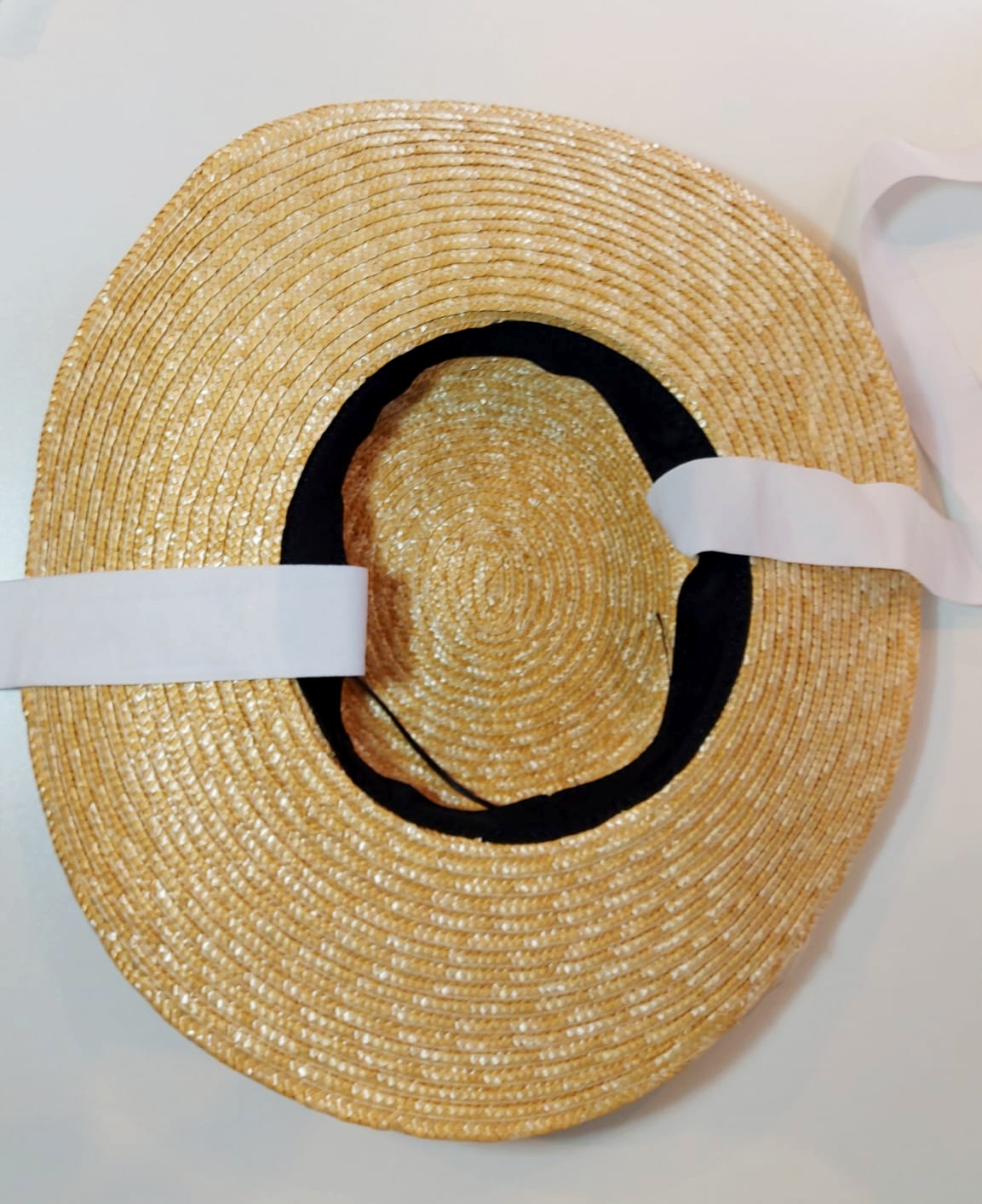 """Straw """"Boater"""" Hat"""