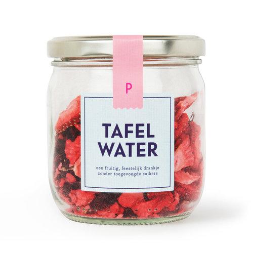 Tafelwater   Pot   Aardbei, hibiscus