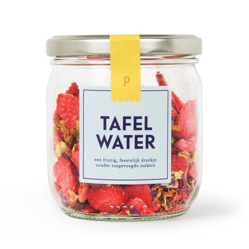 Tafelwater   Pot   Aardbei, jasmijn, korenbloem