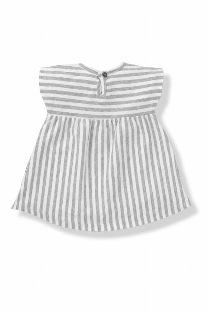 Dress Carol Grey White-2