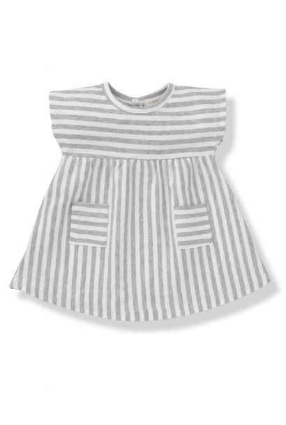 Dress Carol Grey White