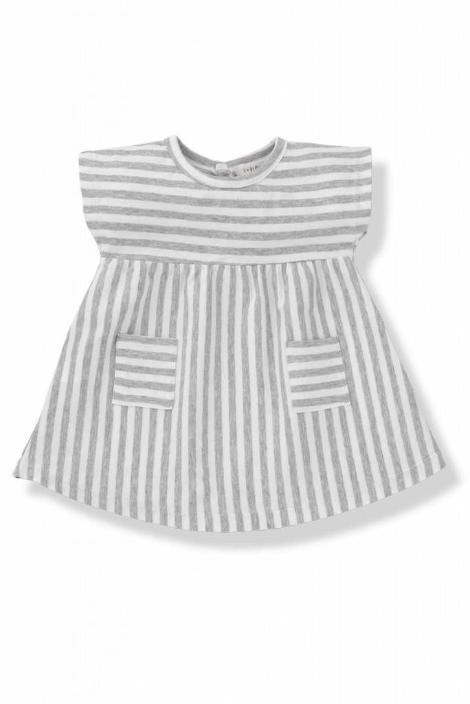 Dress Carol Grey White-1