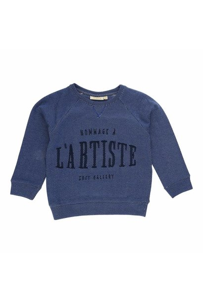 Sweatshirt Silas Netted Blue