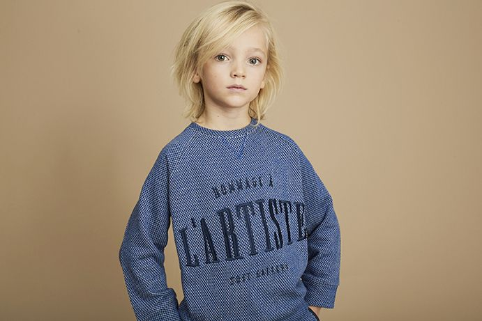 Sweatshirt Silas Netted Blue-3