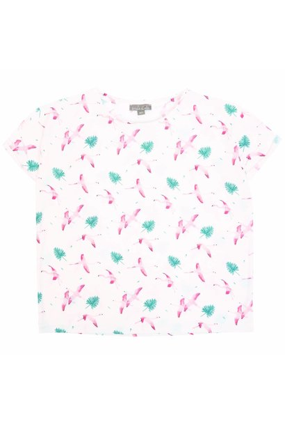 T-shirt Craie Flamand Rose