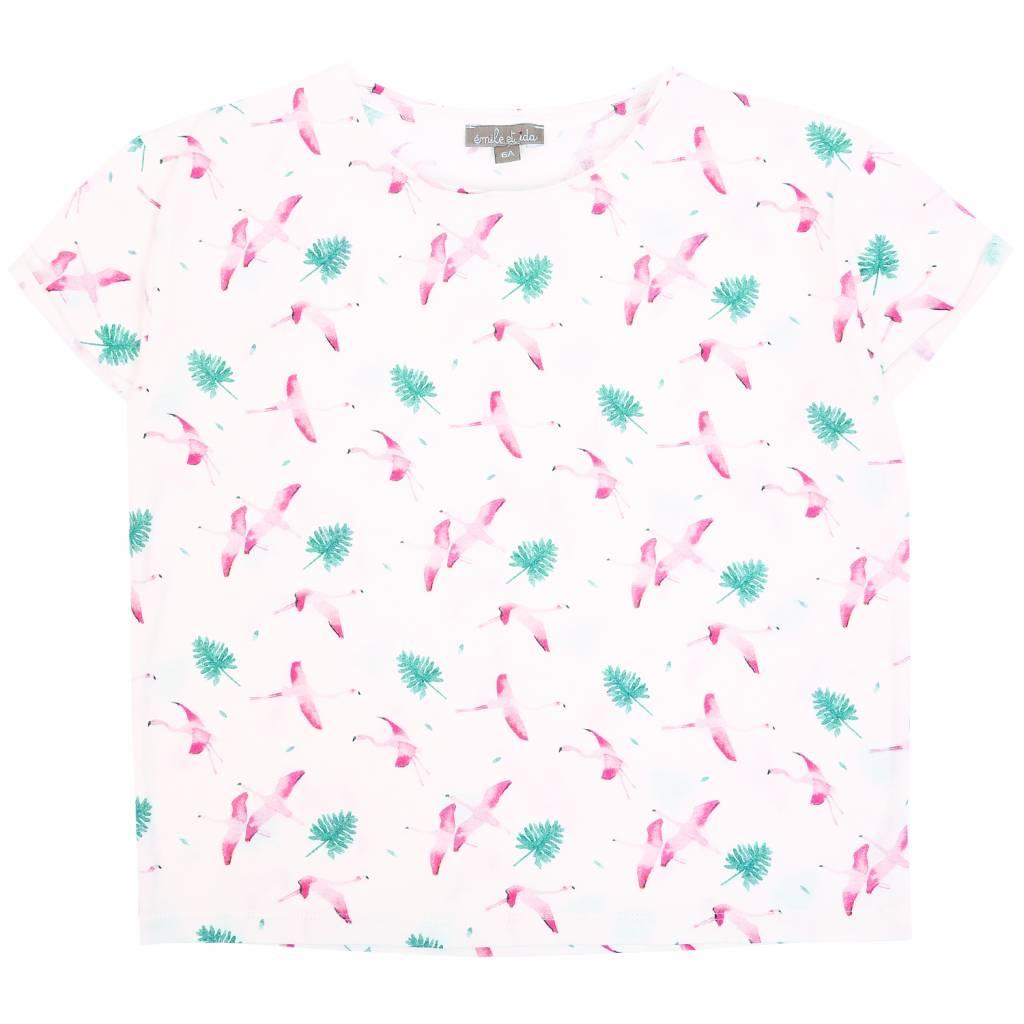 T-shirt Craie Flamand Rose-1