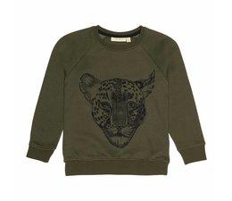 Soft Gallery  Sweatshirt Burnt Olive, Leo Emb