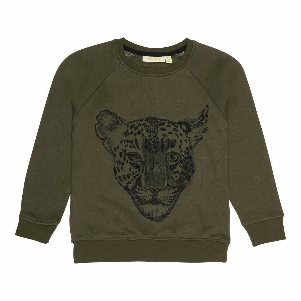 6dadec30 Soft Gallery Sweatshirt Olive Green Tiger - Fie & Vic - Smart brands ...