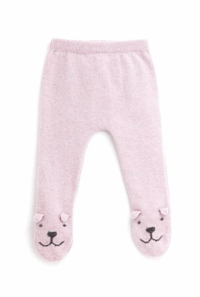 Knitted Bear Legging Pink