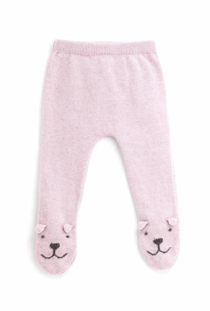 Broekje Knitted Bear Legging Pink-1