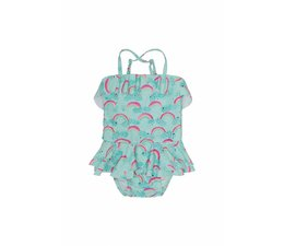 Soft Gallery  Swimsuit Shirley, Blue Tint, AOP Rainbow