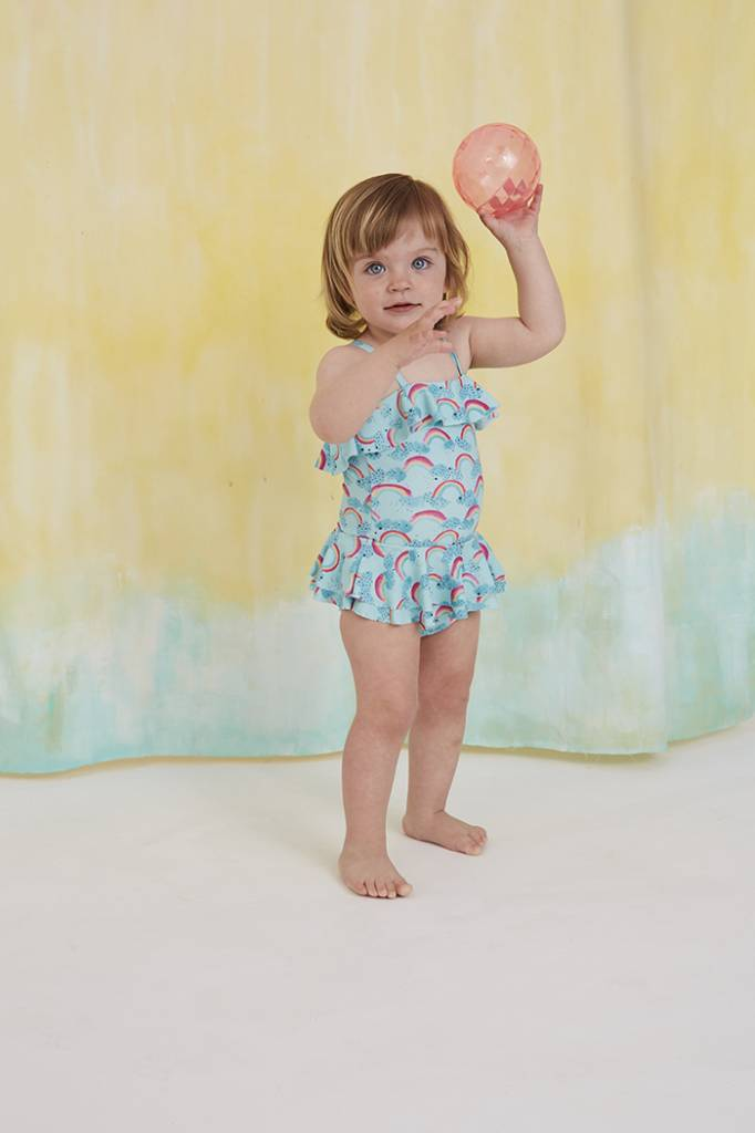 Zwempak Shirley, Blue Tint, AOP Rainbow-4