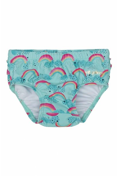 Swimpants Mina, Blue Tint, AOP Rainbow