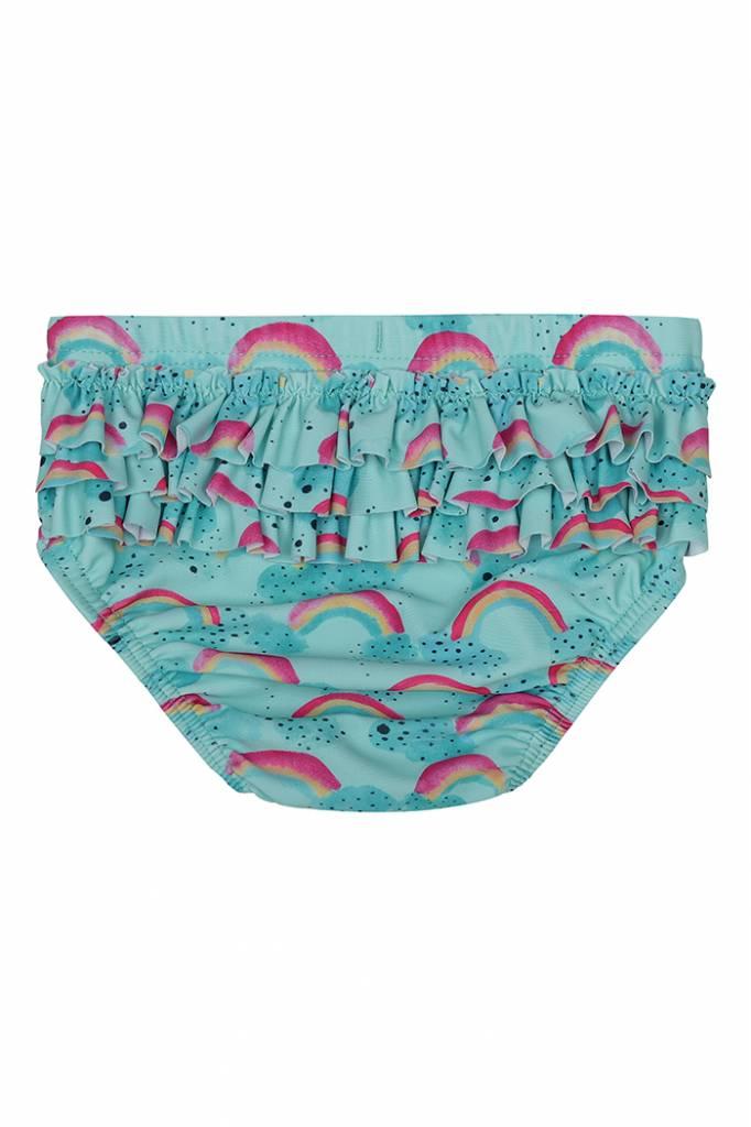Swimpants Mina, Blue Tint, AOP Rainbow-2