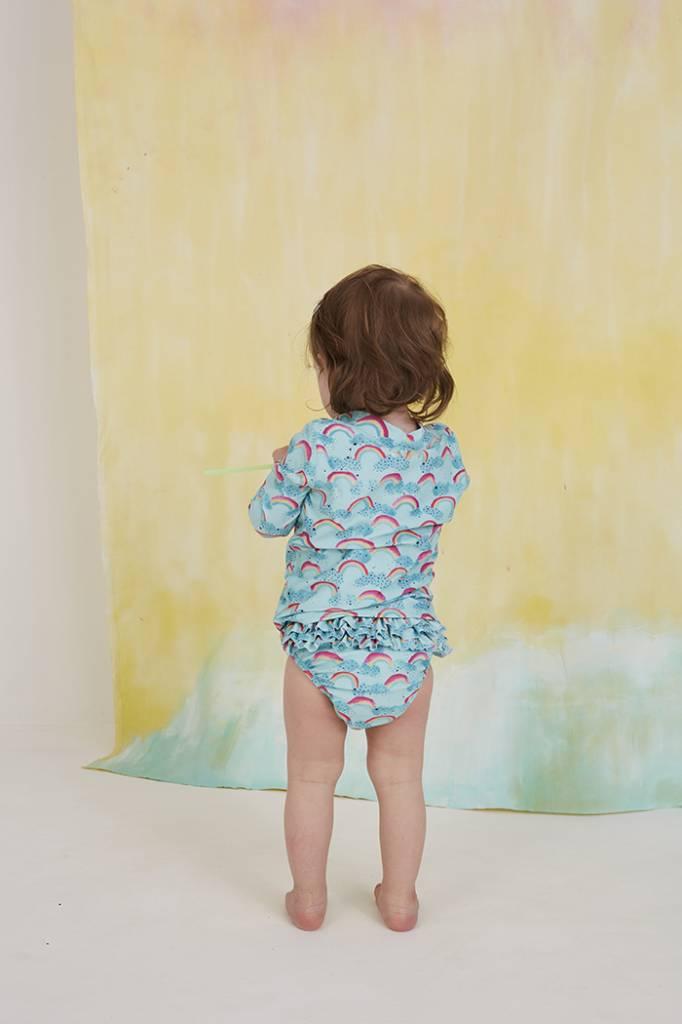 Zwembroek Mina, Blue Tint, AOP Rainbow-3