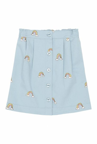 Skirt Deedee, Cloud Blue, AOP Lucky Simple