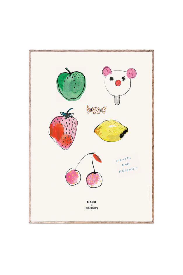 MADO X Soft Gallery Fruits & Candy Poster, 50x70 cm-1