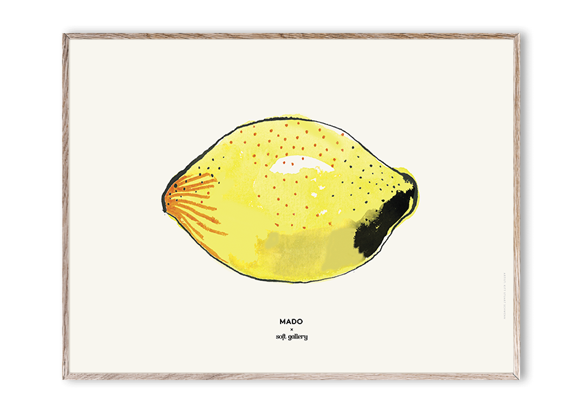 MADO X Soft Gallery Lemon Poster, 30x40 cm-1