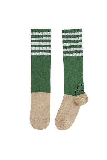 Socks Hautes Rayees Vert
