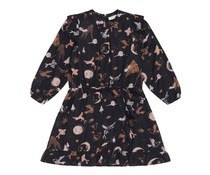 Soft Gallery  Soft Gallery Ea Dress Peat, AOP Enchanted forest
