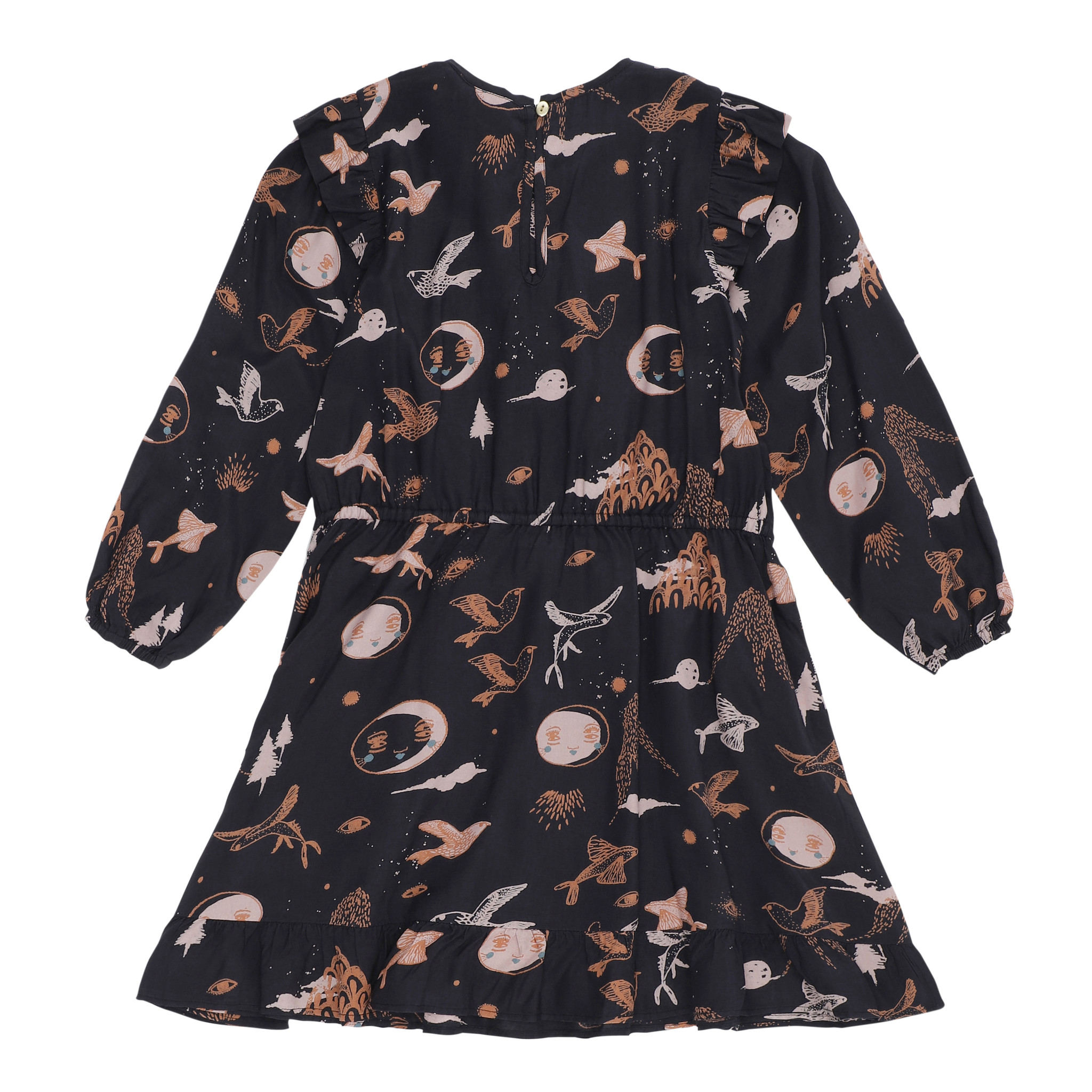 Soft Gallery Ea Dress Peat, AOP Enchanted forest-2