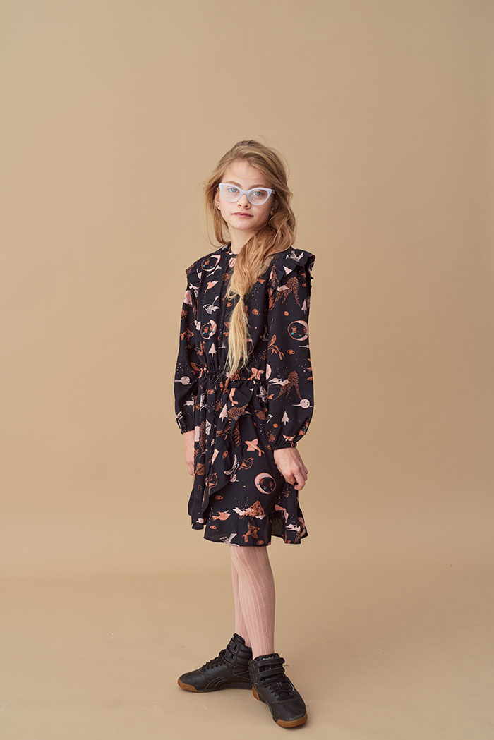 Soft Gallery Ea Dress Peat, AOP Enchanted forest-3