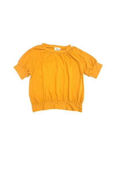 T-shirt puff golden yellow