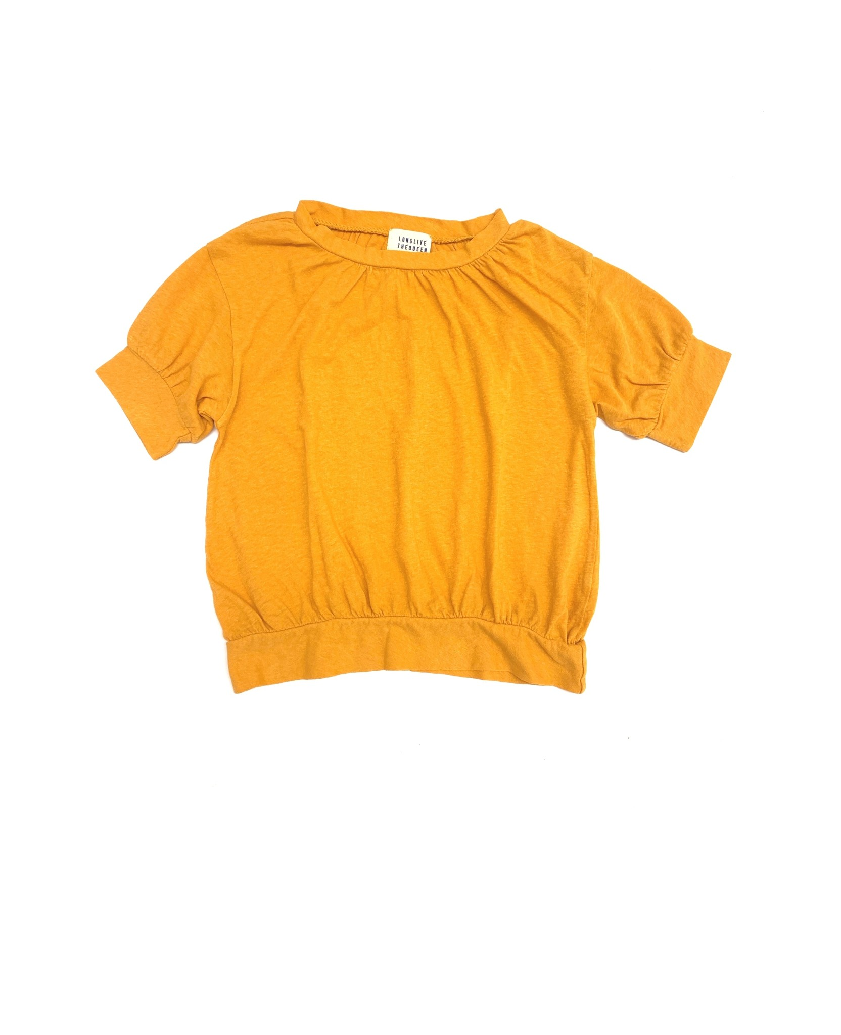 T-shirt puff golden yellow-1
