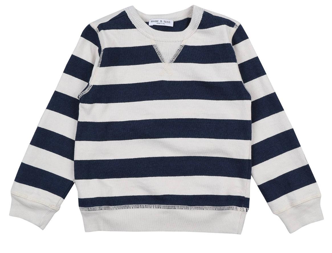 Sweatshirt Felpa Naturale Indigo-1